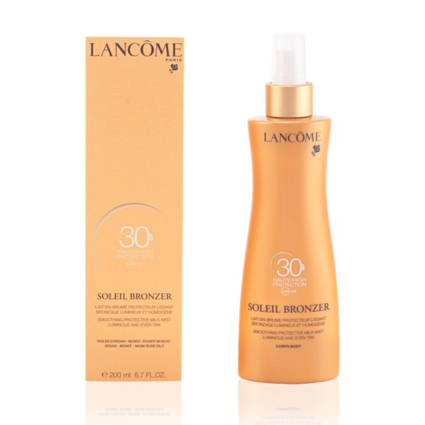 Lancome soleil bronzer smoothing protective milk-mist luminous and even tan spf30 200ml